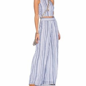 Tularosa Marley Cotton Lounge Pant Blue Stripe S